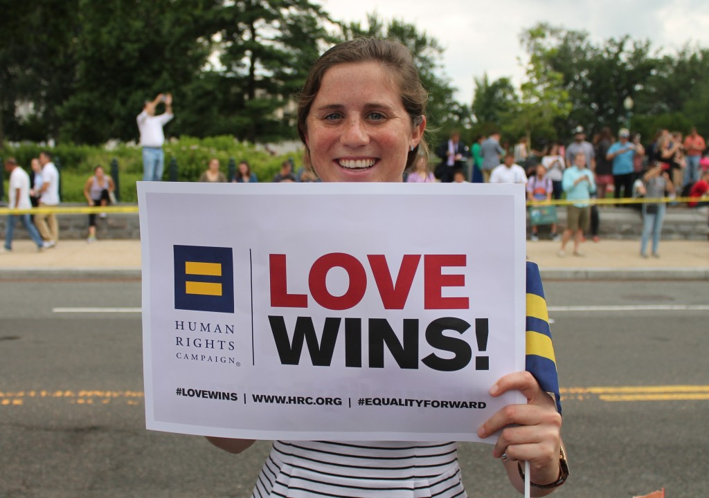 Marriage Equality Decision Day Rally in front of the Supreme Court, Washington D.C. 2015