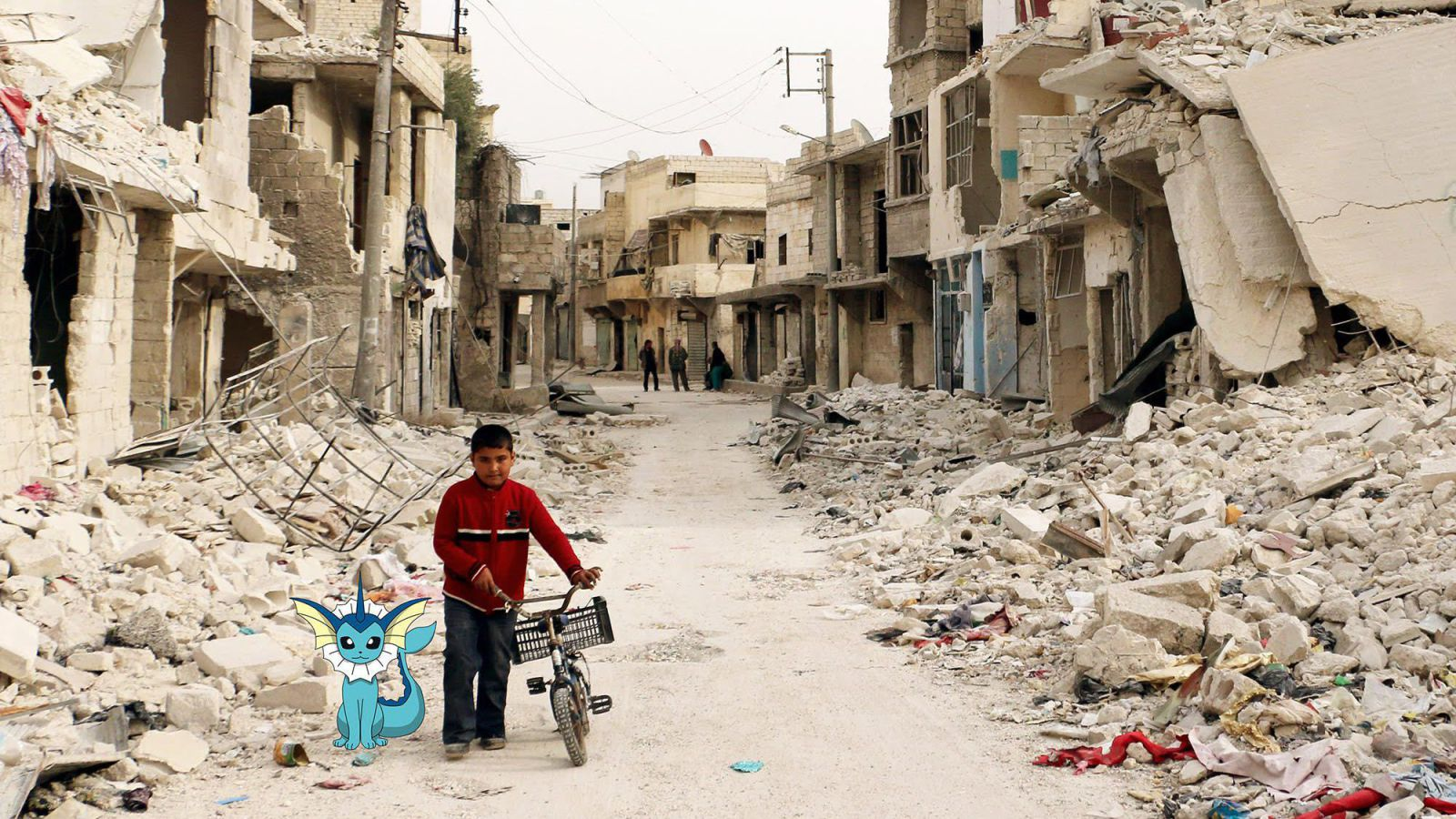 Activists invoke the Pokemon Go craze to draw attention to the plight of children in Syria.