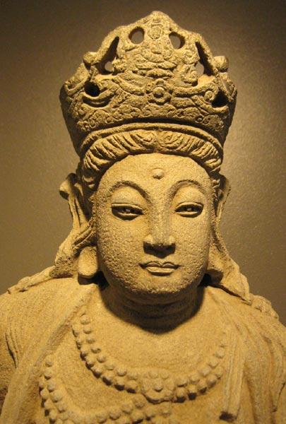 Ming Stone Sculpture of the Bodhisattva Guanyin