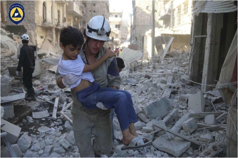 White Helmets' or Syria Civil Defence volunteers who rescue civilians from bombings were awarded the 2016 Right Livelihood Award.