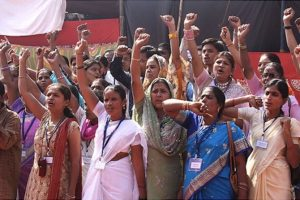 Grassroots leaders of the Women's Federation in Mumbai's slums