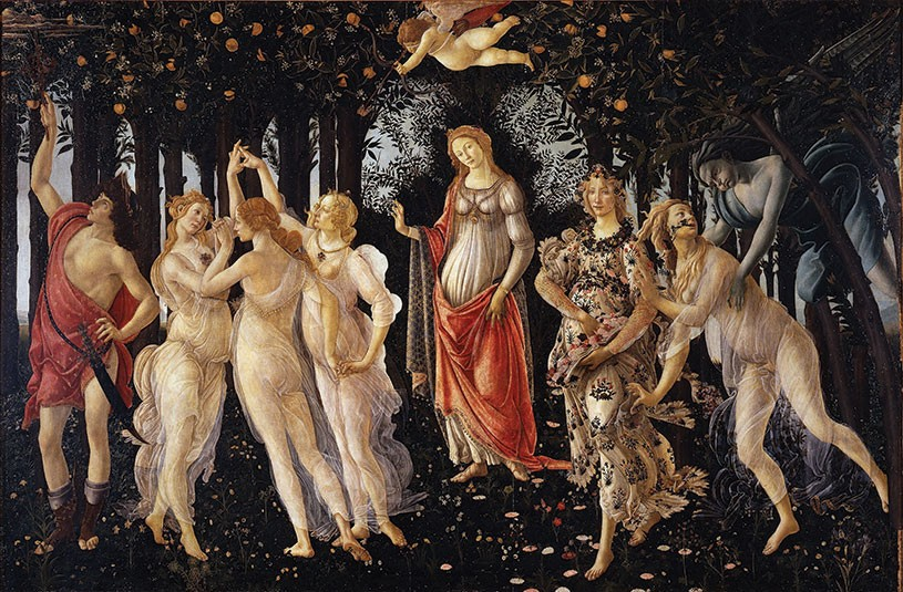 Botticelli, Primavera. To the Renaissance philosopher Marsilio Ficino, the entire world was a garden permeated by the divine powers of creation. It was humanity's task to work together with nature's creative energies to cultivate the world and bring the world to a higher level of fruition.