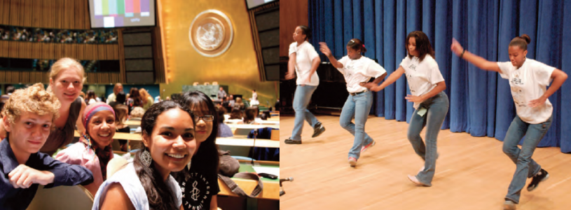 "UN launches International Youth Year ""Dialogue and Mutual Understanding"" August 2010-2011; dance in commemoration of International Youth Day."