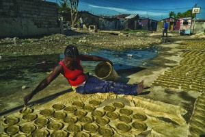 Clay cakes are a symbol of poverty in Haiti.