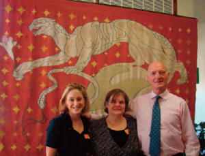 Kim (center), Amanda Boardman, founder of the Centre for Integrative Law in South Africa, and Constitutional Court Judge Edwin Cameron