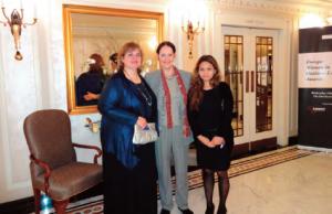 Kim (left) and Linda Spedding (center) of Women in Law International