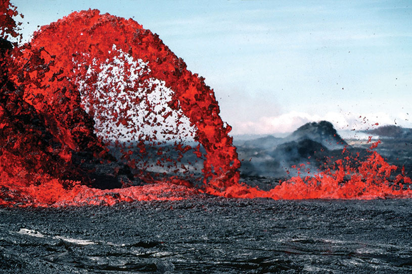 Pahoehoe fountain.  photography | courtesy US Geological Survey