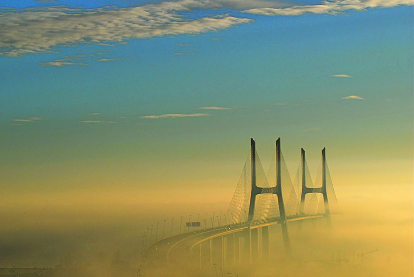 Bridging between inner and outer, masculine and feminine. Vasco da Gama Bridge, Lisbon, Portugal. photography |wikimedia commons, F. Mira,