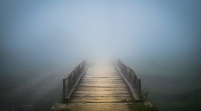 Bridge under mist